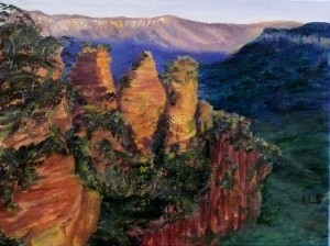 Leah Stern, Three Sisters, Australian Landscape