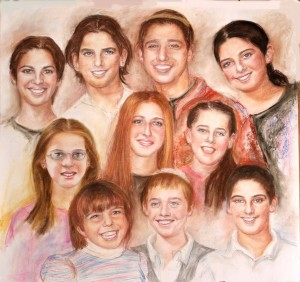 A Portrait of 10 Grandchildren